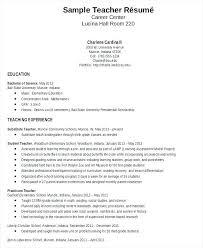Sample Resume Format For Teachers Teaching Professional Resume