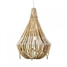 negril beaded chandelier natural 67cm