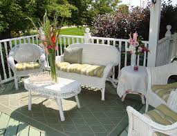 white garden furniture. White Wicker Outdoor Furniture Patio Sets Garden