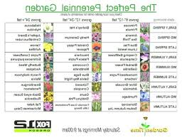 The Perfect Perennial Garden Ive Been Looking For A Chart