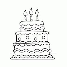 Feestelijke Verjaardagstaarten Kleurplaten Leuk Voor Kids