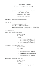 Is There A Resume Template In Microsoft Word Resume Templates Free