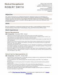 Sample Medical Receptionist Resumes Medical Receptionist Resume Samples Qwikresume