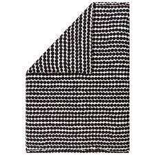 marimekko räsymatto double duvet cover 240 x 220 cm white black