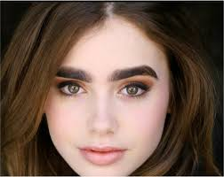 thick eyebrow shapes for round faces. lilly collins\u0027 look defines bushy eyebrows, which are an ideal match for her oval shaped face. this is the perfect those with round faces and thick eyebrow shapes a