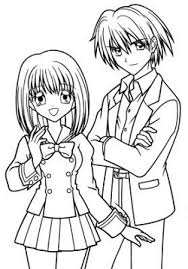 Small Picture Manga Coloring Pages Boy and Girljpg 250358 COLORING PAGES