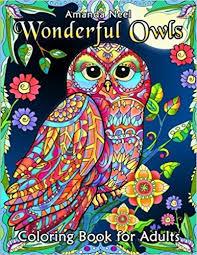 amazon wonderful owls coloring book for s 9781547051113 happy coloring amanda neel books