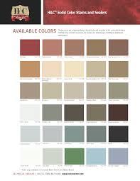 Concrete Sealer Color Chart 13 Actual H C Acid Stain Color Chart