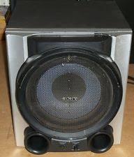 sony subwoofer. sony subwoofer powered speaker sa-wg99 black 115-watt sony s