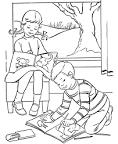 Малыши рисуют раскраска
