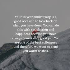 10 Year Anniversary Quotes Gorgeous Work Anniversary Quotes For 48 Years EnkiQuotes