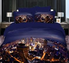 cal king bed sheets city scene bedding set duvet cover king size queen full double cotton