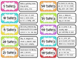 Reward Chart Ideas For Kindergarten Ticket Reward System Reward Chart Kids Kids Rewards