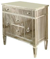 borghese mirrored furniture. Bassett Mirrored Furniture Mirror Borghese Chairside Chest Contemporary Dressers M