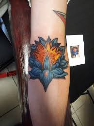 blue lotus tattoo daniel bedard dilligaf tattoo
