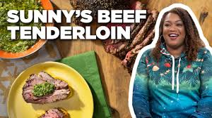 Roasted pork tenderloin with preserves. Sunny Anderson S Easy Beef Tenderloin With Holiday Pesto The Kitchen Food Network Youtube