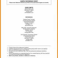 Template Doc 652770 Resume Reference List Template References Sample