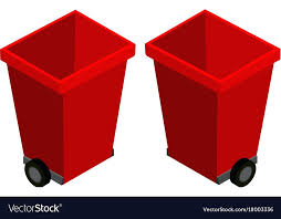 home improvement red trash cans trashcans from two diffe angles royalty free vector image biohazard