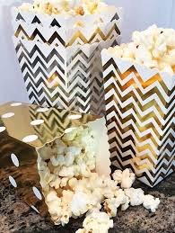 Decorative Popcorn Boxes Gold Foil Chevron Striped Mini Popcorn Boxes Bakers Bling 32