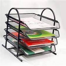 desk paper tray. Delighful Desk 4 Tier Mesh Document Tray Desk Organizer On Paper F