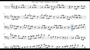 Funeral March Sheet Music For Cello Bassoon Trombone Euphonium Bass Clef Chopin