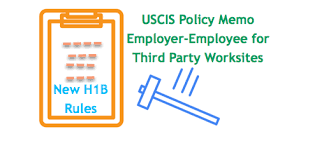 How To Write Petition Guide Cool USCIS News New Policy Memo For Third Party Worksite H48B Petitions