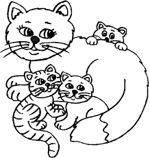 Small Picture Lovely Idea Cat And Kitten Coloring Pages Cat And Kitten Coloring