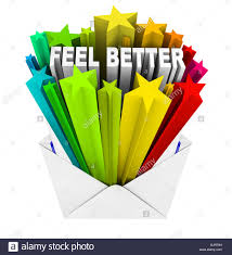 Feel Better Words In Evnelope Get Well Card Stock Photo 114836669