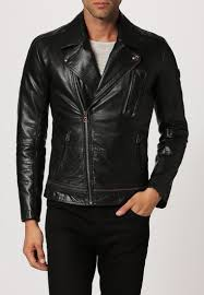 durable boss orange jama leather jacket black men