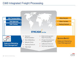 13 citi integrated freight processing