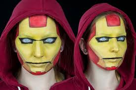 easy iron man face paint tutorial