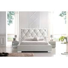 White Leather Platform Bed Brilliant White Leather Platform Bed With