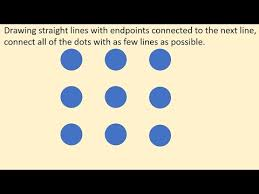 Connect all 9 dots using only 4 lines! Join 9 Dots With 4 Straight Lines Without Lifting The Pen Dots Puzzle Youtube