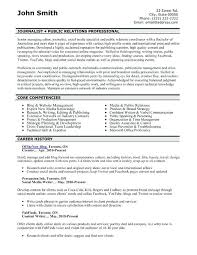Sample Corporate Communications Specialist Resumes Major