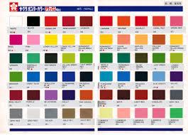 Sakura Poster Color Chart Painting Colour