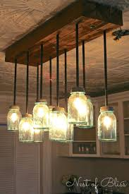how to make a hanging chandelier build it mason jar chandelier from nest of bliss mason