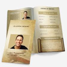 Memorial Service Brochure Flyer Template Free Funeral