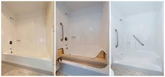 3 step bathtub shower