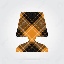 Oranje Zwart Geïsoleerde Tartan Pictogram Met Witte Strepen