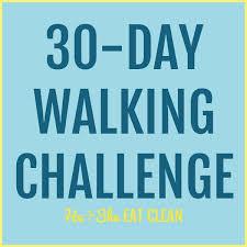 Printable Walking Charts 30 Day Walking Challenge With Printable Tracking Chart