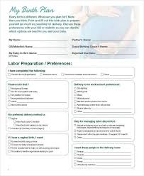 How To Make Your Birth Plan How To Make A Birth Plan Template Mytv Pw