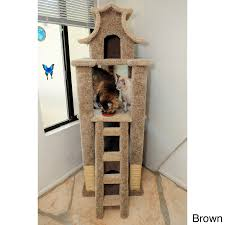 cool cat tree furniture. New Cat Condos Designer Pagoda (Brown) Cool Tree Furniture