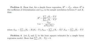 show that for a simple linear regression r2y where r2
