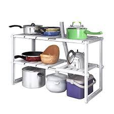 Home-Neat 2 Tiers Expandable Kitchen <b>Storage</b> Multi-<b>Functional</b> ...