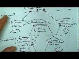 Venn Diagram Of Quadrilaterals Geo 6 4 Quadrilateral Hierarchy Youtube