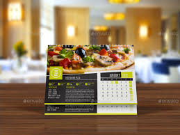 elegant recipes 2016 desk calendar template