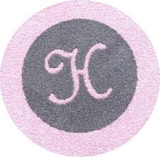 gray and pink rug primary round pink rugs for nursery for round gray rug with light pink border and initial pink grey nursery rug