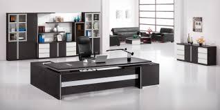 brilliant modern executive desk with black inside design decorating