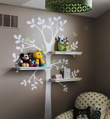 Small Picture Shelving Tree Decal with Birds