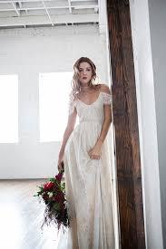 boho wedding dress off shoulder wedding dress hippie wedding